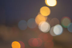 Abstract defocused lights bokeh as light car on road background Stock Photo