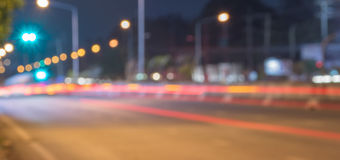 Abstract defocused lights of the night city. Royalty Free Stock Photo