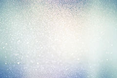 Abstract defocused lights, sparkling holiday bokeh background Stock Image