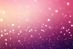 Abstract defocused lights, sparkling holiday bokeh background Stock Photography