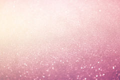 Abstract defocused lights, sparkling holiday bokeh background Stock Images