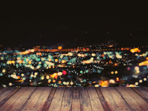 Abstract defocused night light cityscape Stock Photo