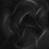 Abstract deformation of net. Wavy motion mesh structure. Vector. Abstract deformation of net. Wavy motion mesh 3d structure. Vector illustration isolated on dark royalty free illustration