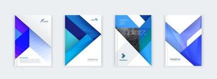 Abstract dekkingsontwerp, bedrijfsbrochuremalplaatje, lay-out, rapport, tijdschrift of boekje in A4 in multi-colored vorm Royalty-vrije Stock Afbeeldingen
