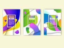 Abstract dekkingsontwerp met het kleurrijke golven en document effect van de besnoeiingsdiepte vector illustratie