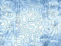 Abstract delicate blue numbers background Stock Images