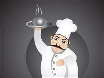 Abstract delicious cook cartoon Stock Photos