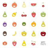 Abstract delicious fruits. On a white background Stock Photo