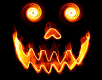 Abstract demon face. Abstract fire demon face isolated on black background Royalty Free Stock Photography