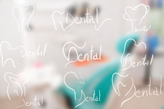 Abstract dental illustration of a teeth Royalty Free Stock Photography