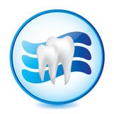 Abstract dental sign. Abstract medical blue dental sign Stock Image