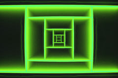 Abstract Depth Green Square Stock Images