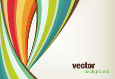 Abstract design. With retro colorful shapes Stock Image