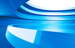 Abstract design. 3d Abstract design in blue tone Stock Images