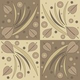 Abstract design. Abstract illustration with leaves and circles Stock Illustration