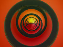 Abstract Design 3. Abstract background of circles getting tighter in the distance Royalty Free Stock Photo