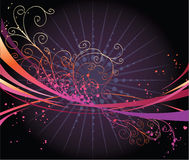 Abstract design. Abstract colorful design with swirls Stock Images