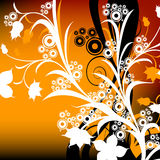 Abstract design. Abstract floral composition; design with circles and flowers