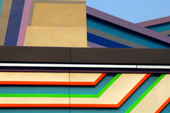 Abstract Design. Colorful abstract design on a modern building royalty free stock photo