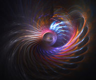 Abstract design, background. Set on black Royalty Free Stock Photos