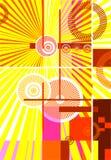 Abstract design background. Avant-garde illustration Stock Image
