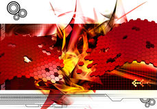 Abstract design background. Abstract modern background in red Stock Photography