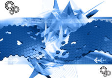 Abstract design background. Abstract modern background in blue Royalty Free Stock Images