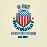 Abstract, design background for D-Day event, celebration Royalty Free Stock Images