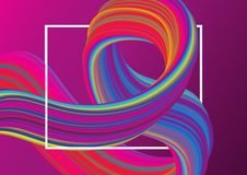 Abstract design background. With flowing colourful liquid shape stock illustration
