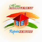 Abstract, design background for House Improvement, Repair Service sign Stock Photo