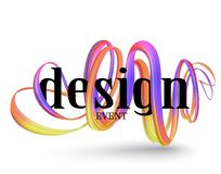 Abstract design banner with curly, bright, colorful ribbons. Vector illustration vector illustration