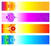 Abstract design banners. Four Vector abstract design banners Royalty Free Stock Photos