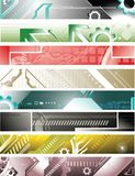 Abstract design banners royalty free illustration