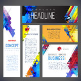 Abstract design banners vector template Stock Images