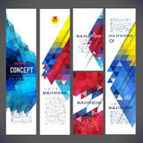 Abstract design banners vector template Stock Photography