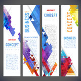 Abstract design banners vector template design Stock Photo