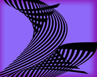 An abstract design of black curved lines on a purple background. This is an abstract design with black lines that curve and are on a purple background Royalty Free Stock Photos