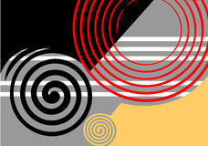 Abstract design black-grey. Stock Images