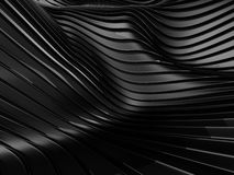 Abstract design black smooth curves lines background Stock Photos