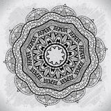 Abstract design black white element. Round mandala in vector.  Stock Photography