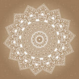 Abstract design black white element. Round mandala in vector.  Royalty Free Stock Photos