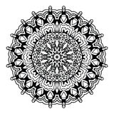 Abstract design black white element. Round mandala in vector. Graphic template for your design. Circular pattern. Stock Photos