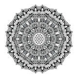 Abstract design black white element. Round mandala in vector. Graphic template for your design. Circular pattern. Stock Images