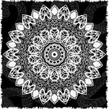 Abstract design black white element. Round mandala in vector. Graphic template for your design. Circular pattern. Royalty Free Stock Images