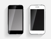 Abstract Design Black and White Mobile Phones. Royalty Free Stock Photography