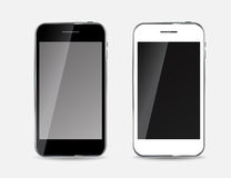Abstract Design Black and White Mobile Phones. Stock Photography