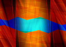 Abstract design, blue and red color, background Royalty Free Stock Photography