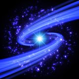 Abstract design - Blue Spiral Vortex with Stars. Illustration on Royalty Free Stock Photos