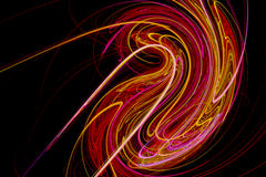 Abstract design with bright colored light waves Royalty Free Stock Photo