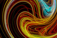 Abstract design with bright colored light waves Stock Photography